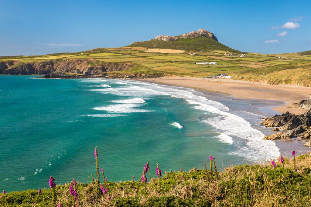 View north across Whitesands Bay, St Davids, Pembrokeshire
