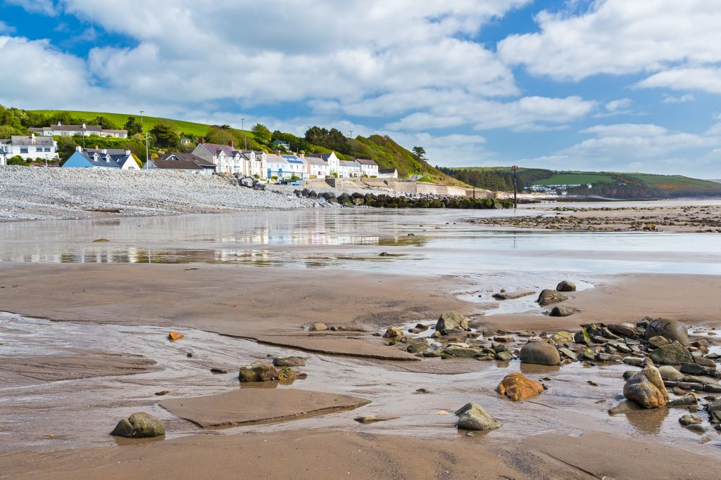 Seaside village of Amroth in the Pembrokeshire Coast National Park