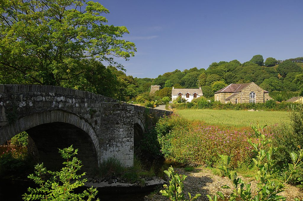 Village of Nevern in the Pembrokeshire Coast National Park