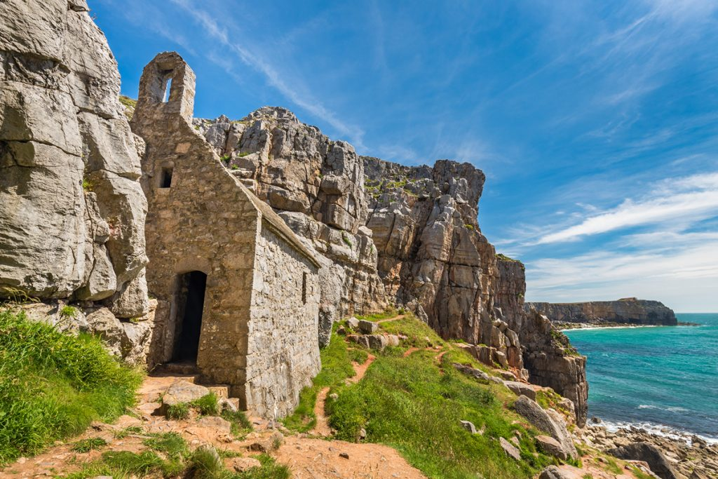 St Govan's Chapel in the Pembrokeshire Coast National Park