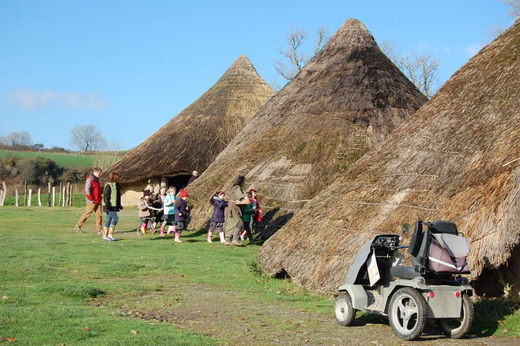 Castell Henllys Iron Age Village's all-terrain mobility scooter.