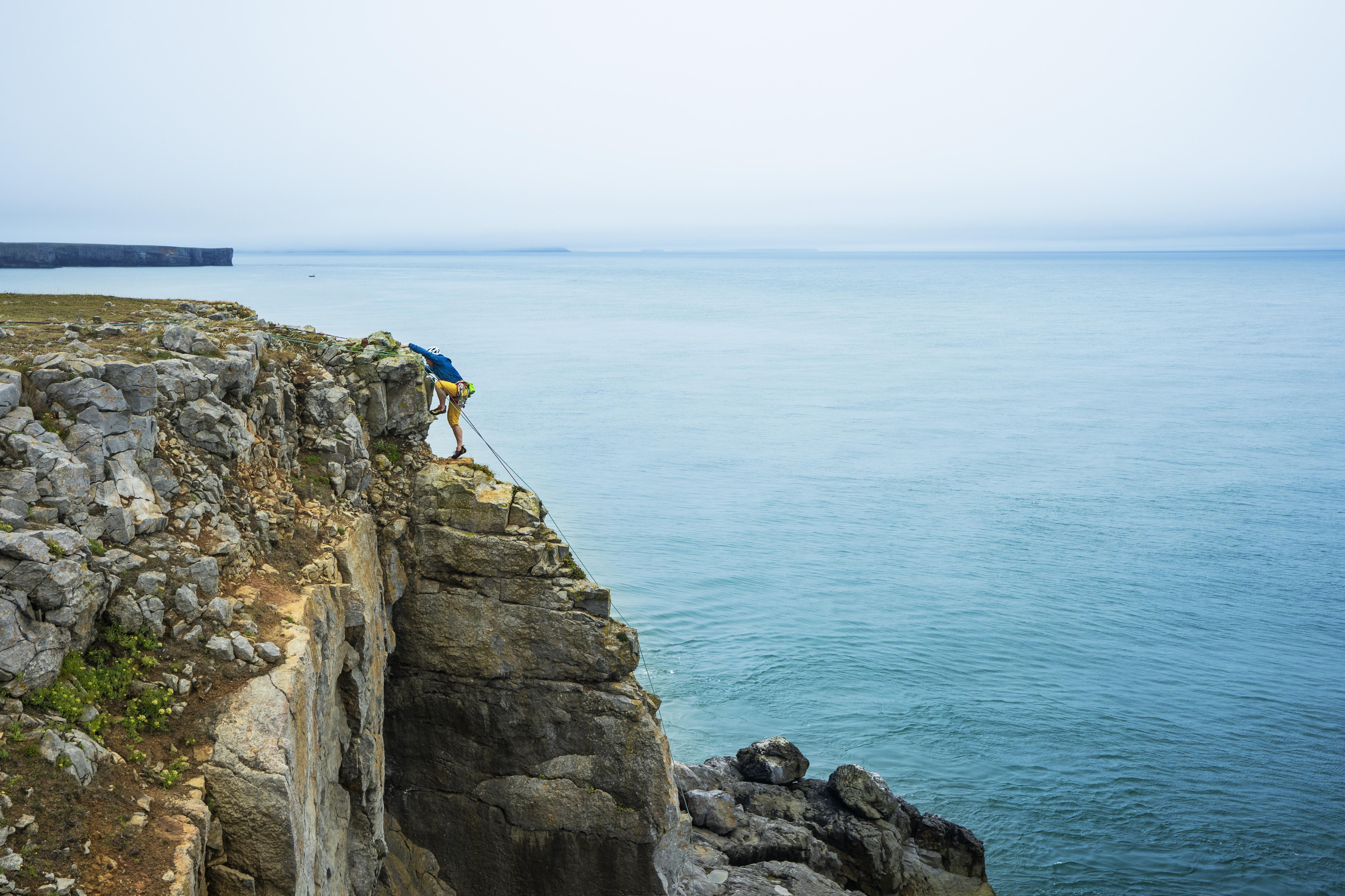 St Govans Climber