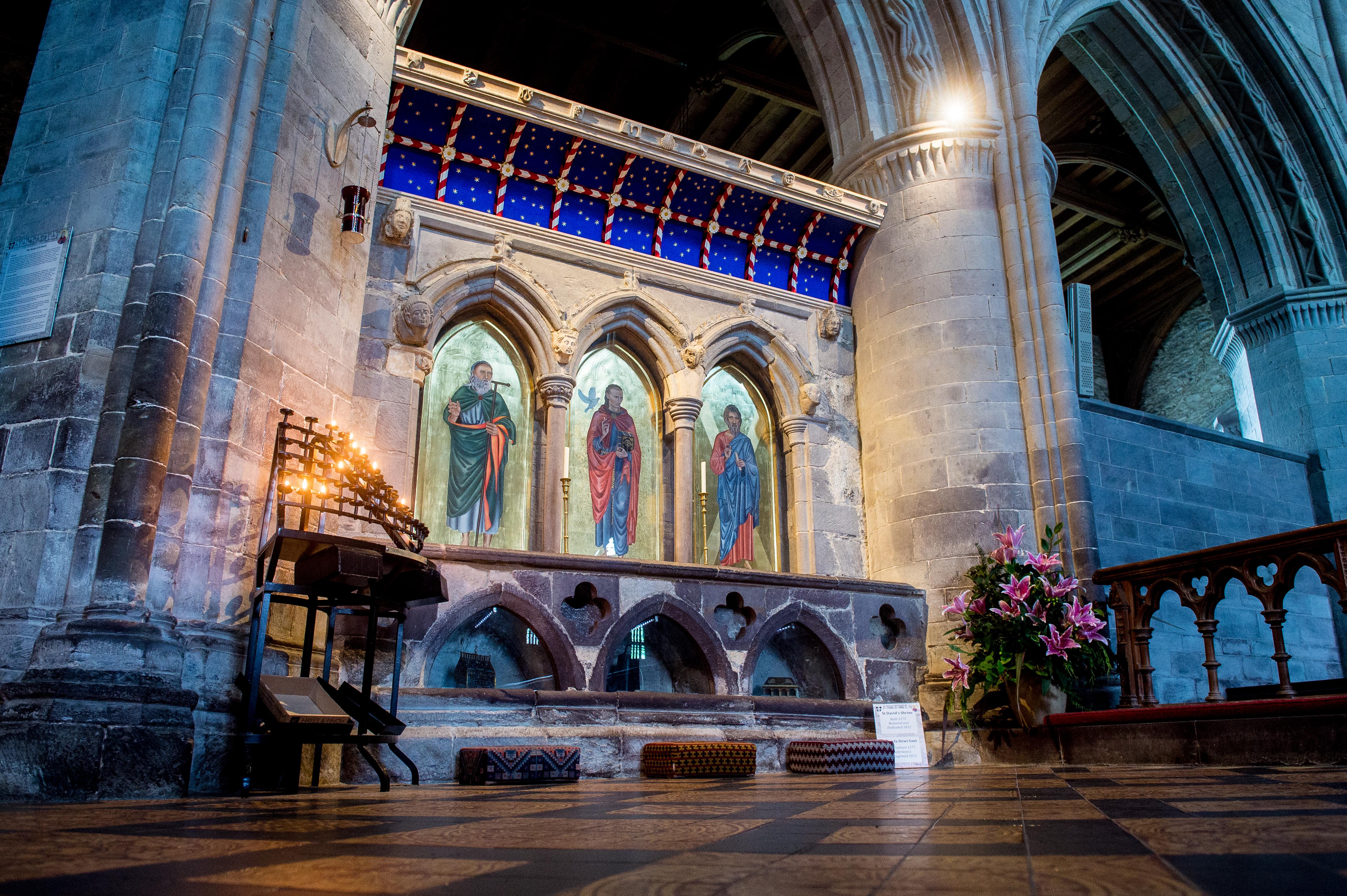 St Davids Shrine, St Davids Cathedral, Pembrokeshire, Wales, UK