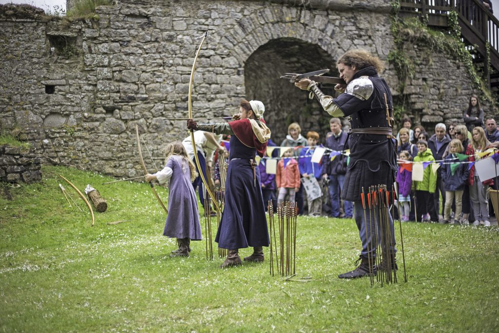 Archery at Carew Castle