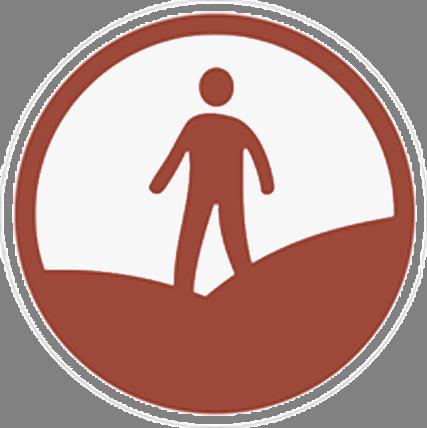 Open access symbol denoting 'open access land'