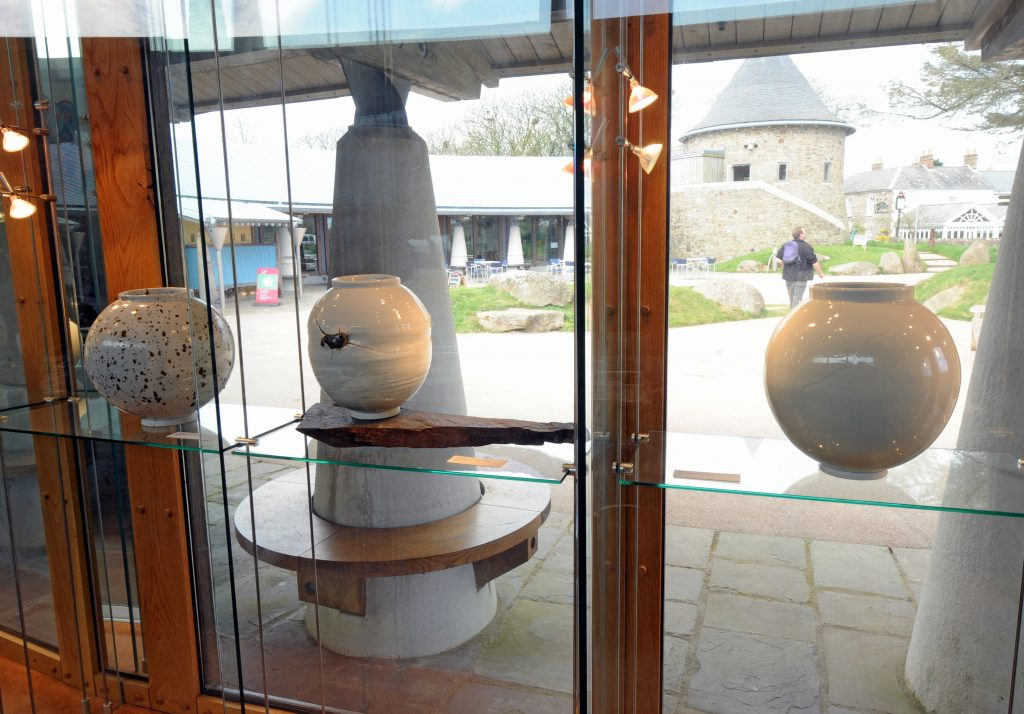 Discovery Room Windows at Oriel y Parc Gallery and Visitor Centre, St Davids, Pembrokeshire Coast National Park, Wales, UK