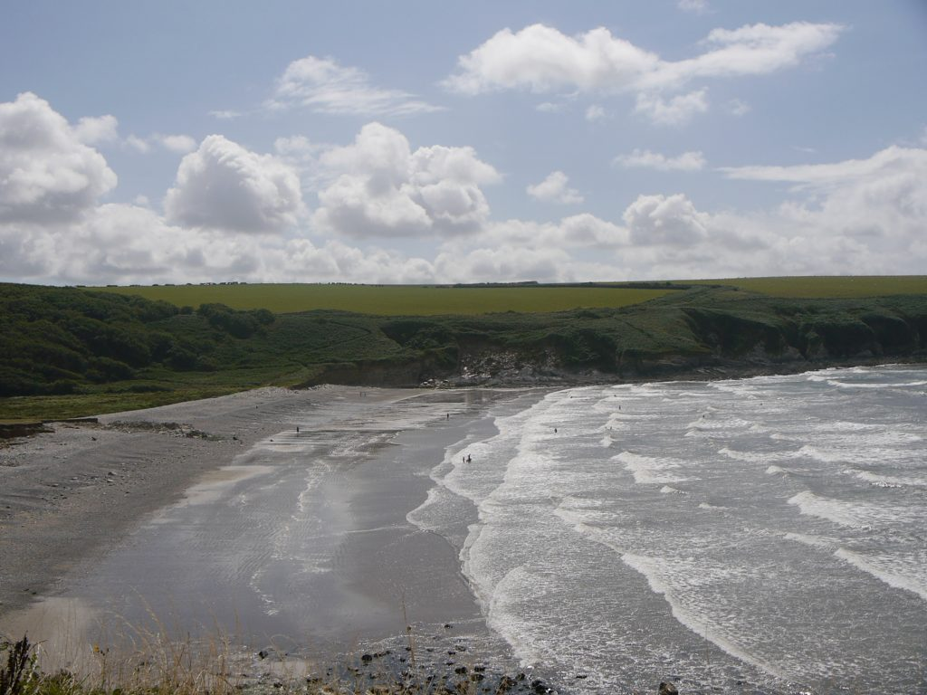 Aber Mawr beach in the Pembrokeshire Coast National Park