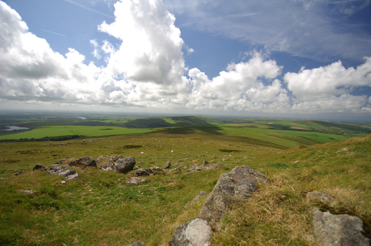View from Foel Eryr in the Preseli Hills