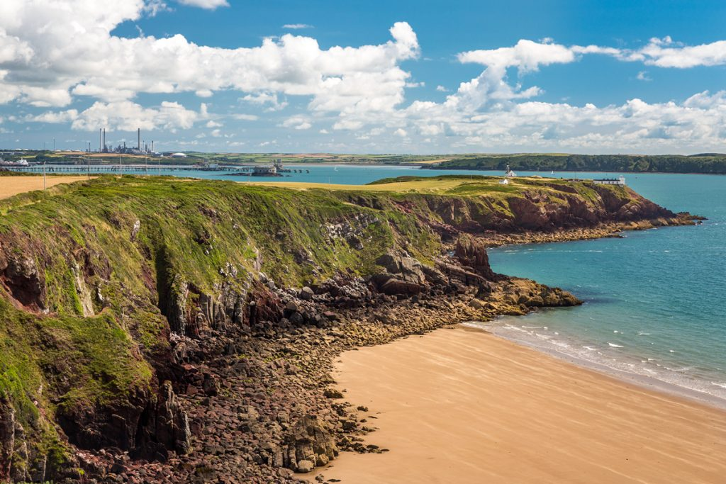 Lindsway Bay and Great Castle Head