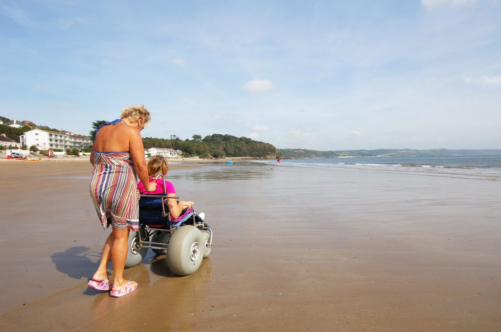 Beach Wheelchair on Saundersfoot