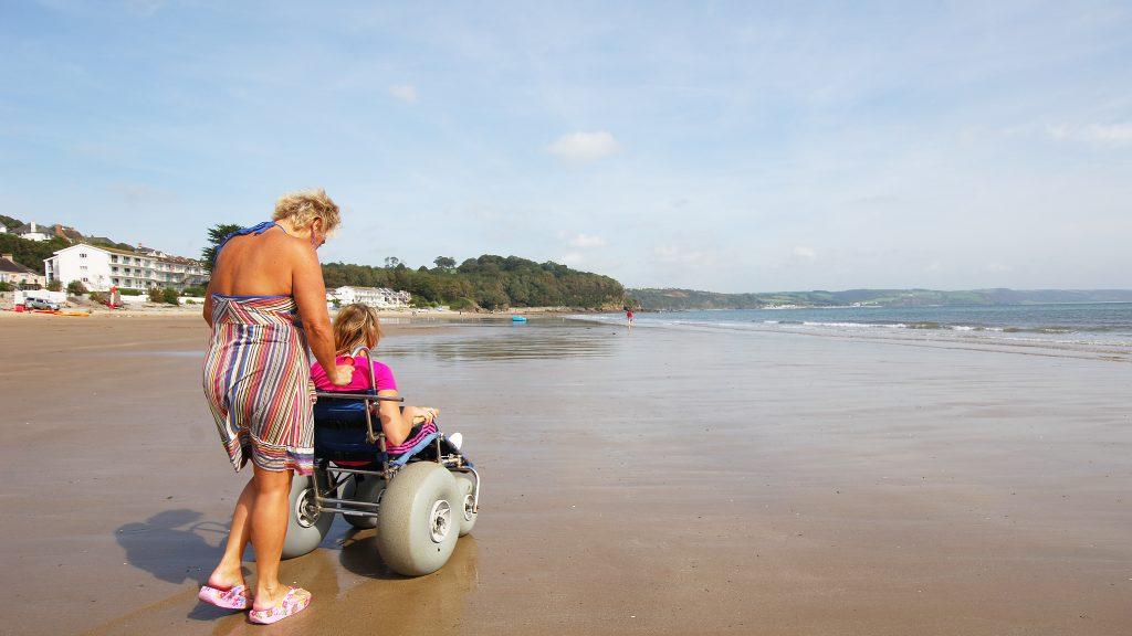 Beach Wheelchair on Saundersfoot