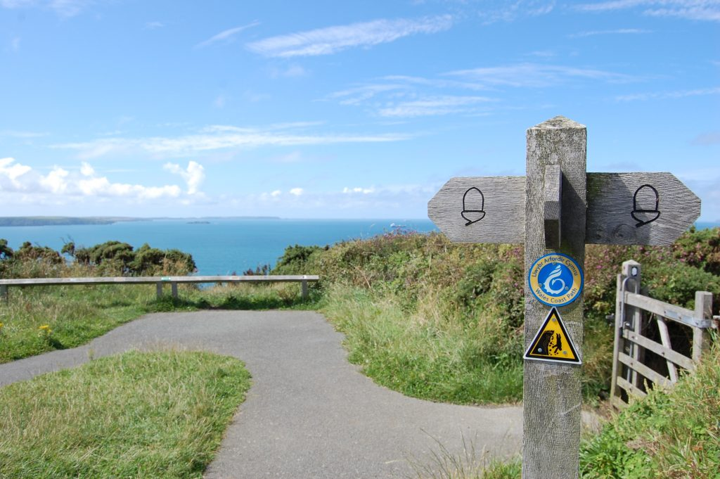 Haroldston Chins easy access route on the Pembrokeshire Coast Path