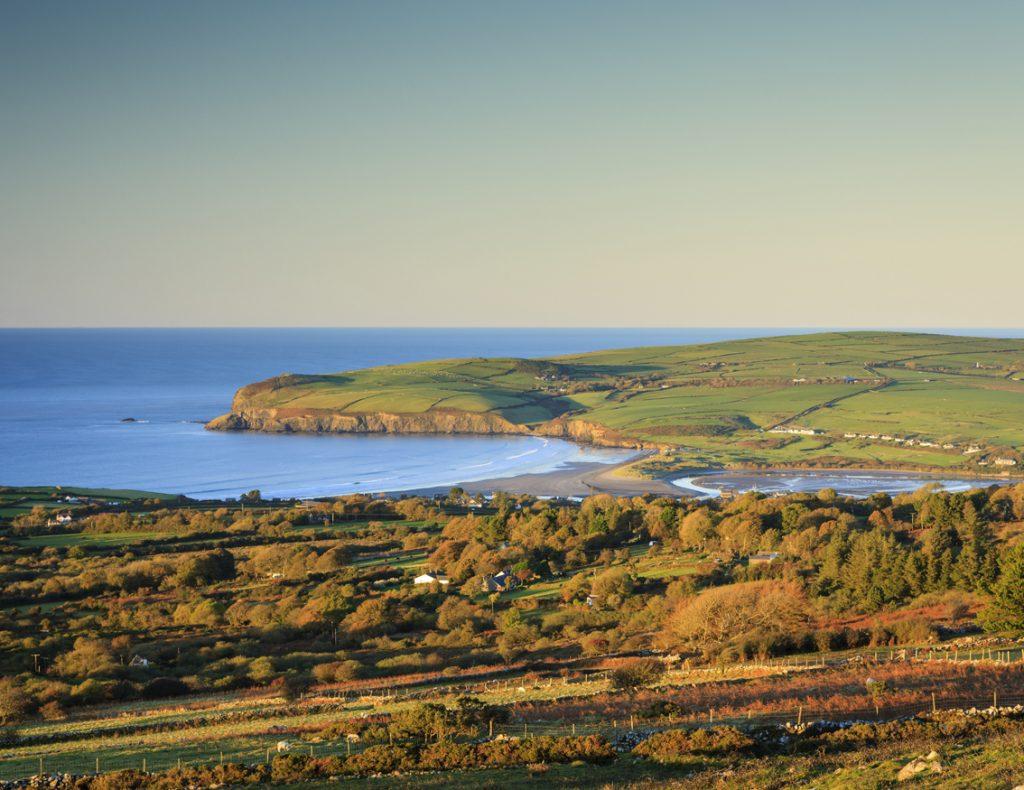 View of Newport from Ffordd Bedd Morris