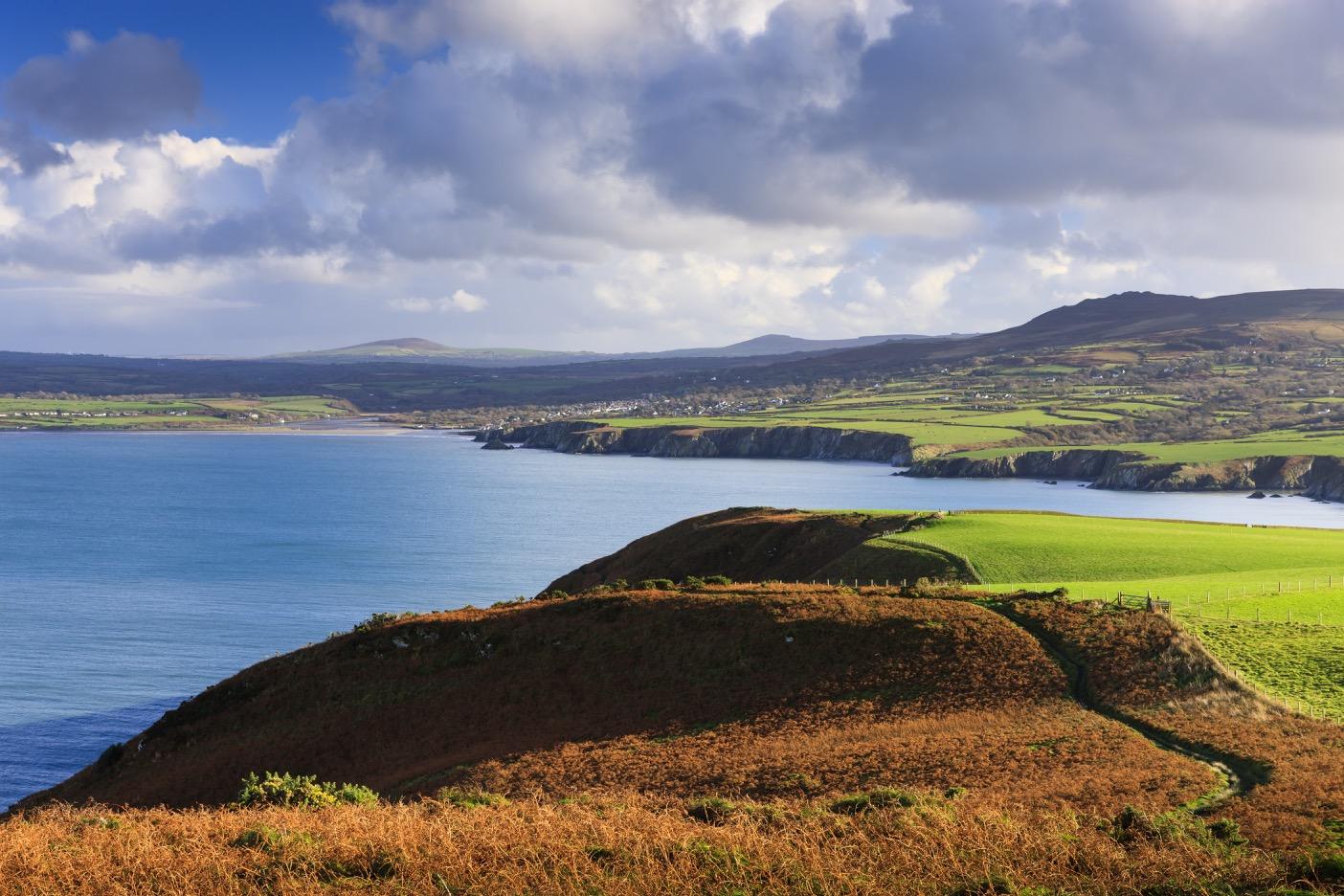 View from Dinas Head towards Newport