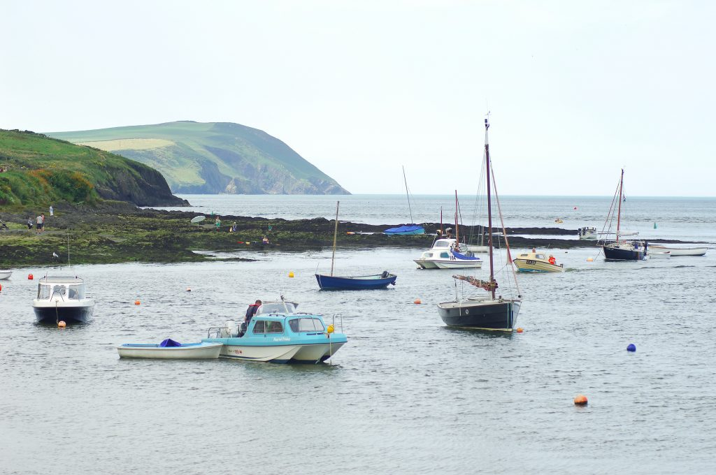 View to Dinas Head from Newport Parrog