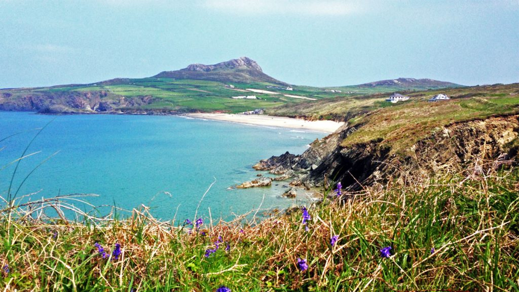 View from Pembrokeshire Coast Path south of Porthselau
