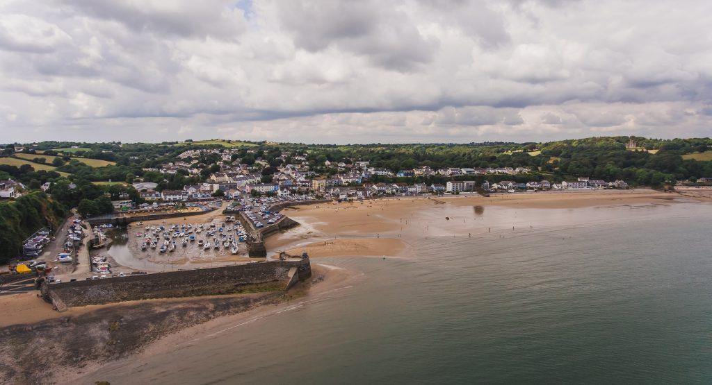 Aerial view of Saundersfoot