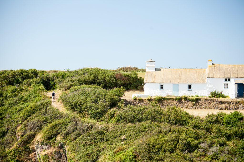 Cottage next to the Pembrokeshire Coast Path at Porth Clais