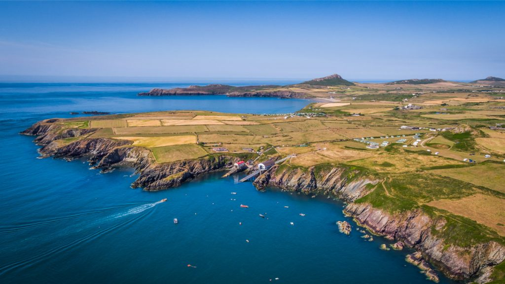 Aerial photograph showing St Davids Peninsula