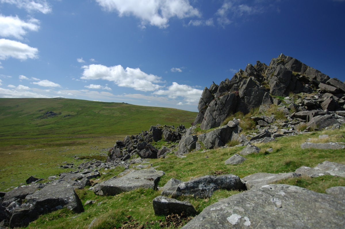 Carn Menyn also known as Carn Meini, Preseli Hills, Pembrokeshire Coast National Park, Wales, UK