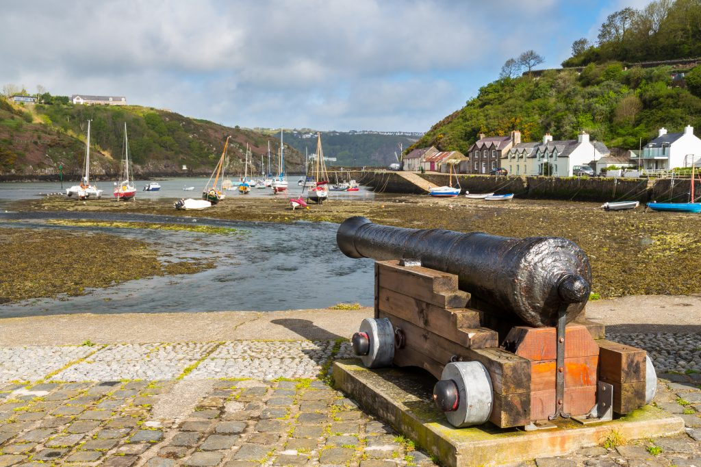 Cannon at Lower Town Fishguard