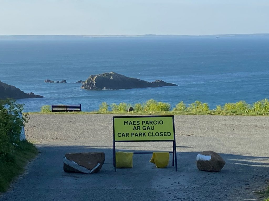 Caerfai Car Park closed