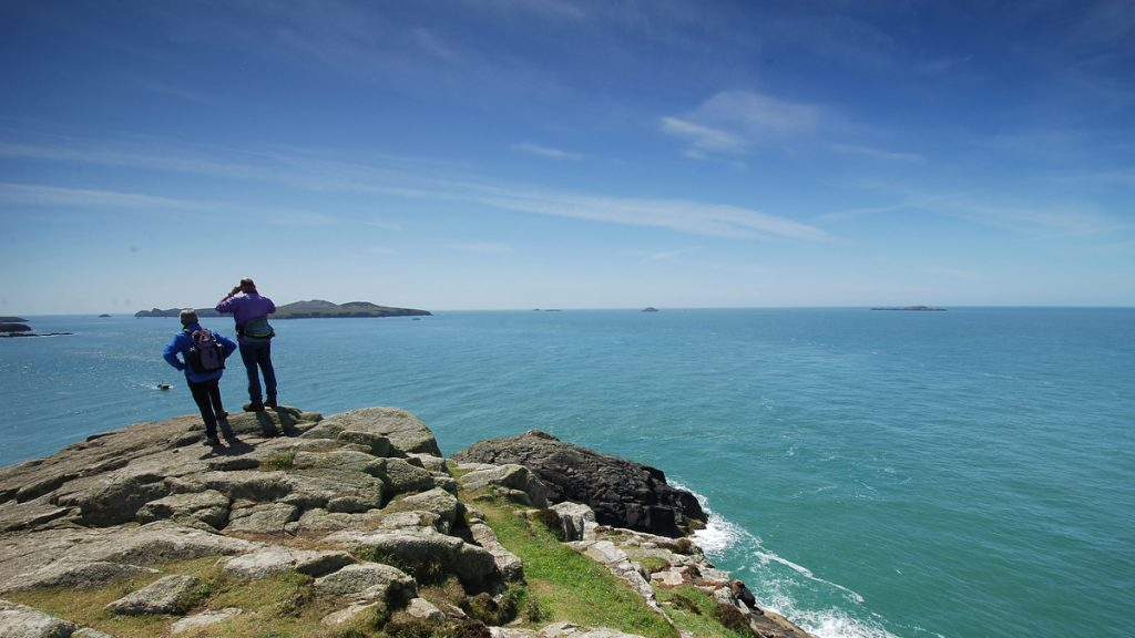 View from St David's Head across to Ramsey Island