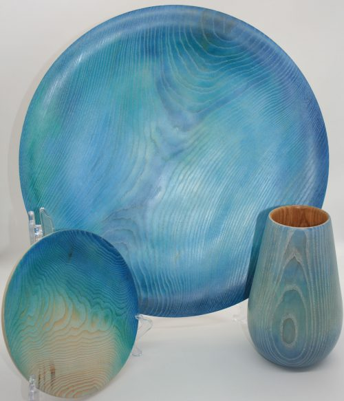 Pieces by Tŷ Hir Turning, on display at Oriel y Parc, St Davids 1 September-30 October 2020