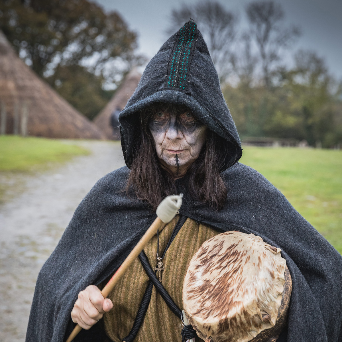 Shelley Morris, Professional Musician, Percussionist and Community Arts Educator and Mentor at Castell Henllys Iron Age Village