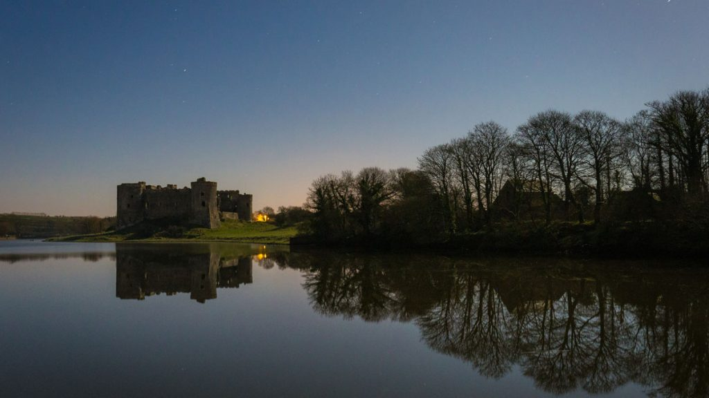 Carew Castle at Twilight