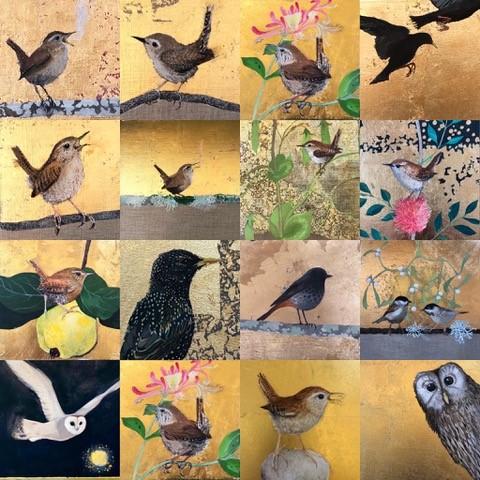 Montage of Liza Adamczewski postcards
