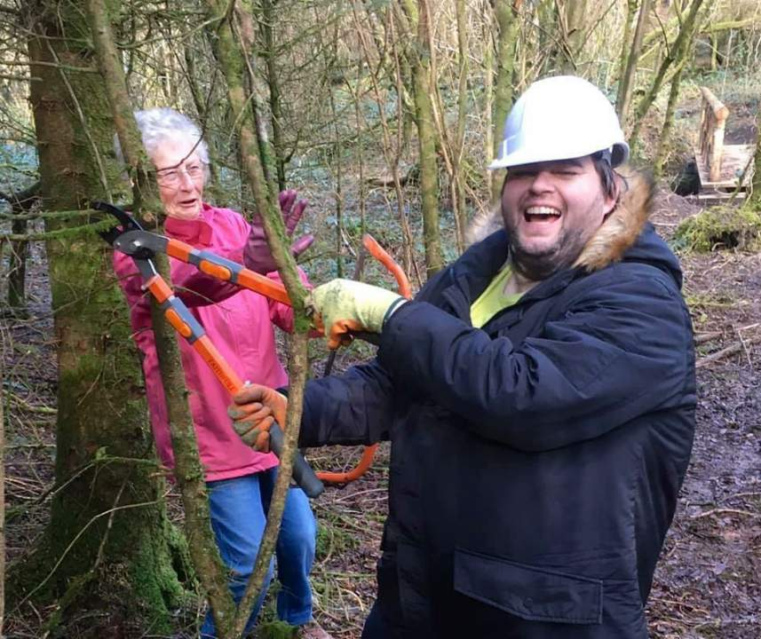 Mind Pembrokeshire members at a forest event