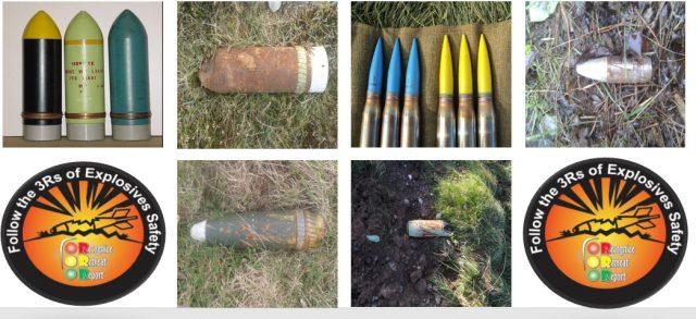 Ammunition found on Castlemartin Range