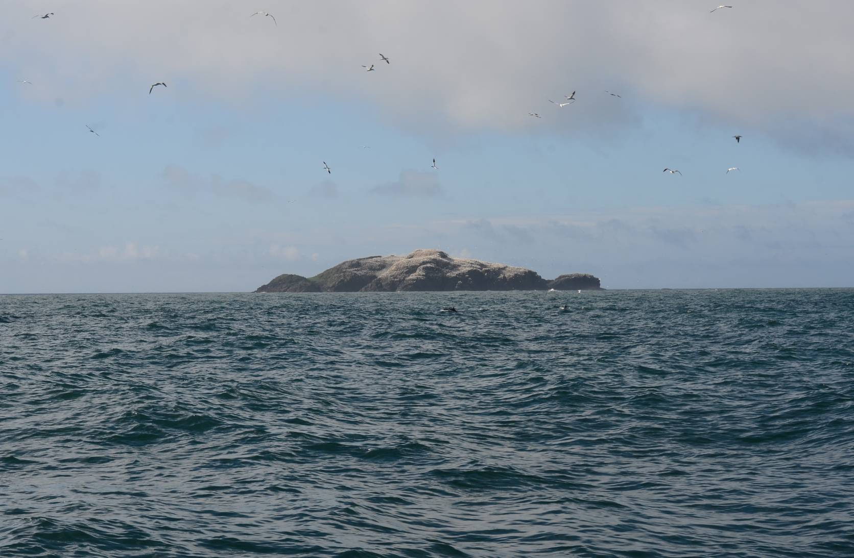 Rocky island viewed from the sea