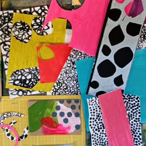 Offcuts of materials used for arts and crafts